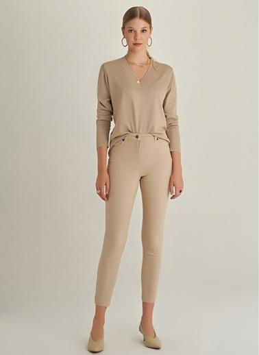 NGSTYLE Skinny 5 Cepli Pantolon Camel